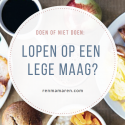 Hardlopen op lege maag: do of don't?